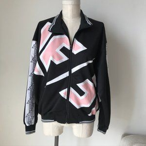[LF] The Brand Black & Pink Printed Jacket